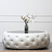 Abbyson Living Furrinno Leather Coffee Table