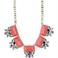 Olivia Welles Floral Motif Geometric Collar Necklace - Summer Brights By Olivia Welles Jewelry - Modnique.com