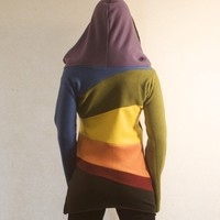 Rainbow Fleece Hoodie Dress by hipstarrdesigns on Etsy