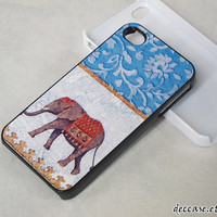 iPhone case IPHONE 5 CASE lace ELEPHANT Blue iPhone 4 case iPhone 4S case