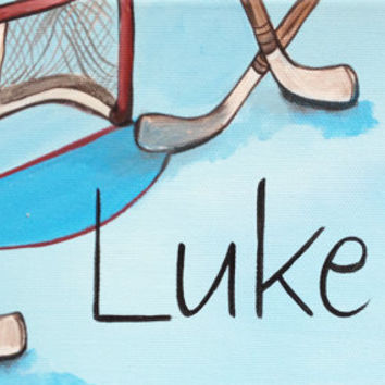 Personalized Hand Painted Canvas Wall Name Art / Signs For Boys Rooms