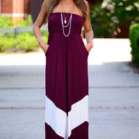 The Interception Maxi, Burgundy/White