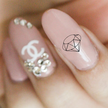 Nail Decals - Diamond Waterslide Decal - Nail Art Accessories