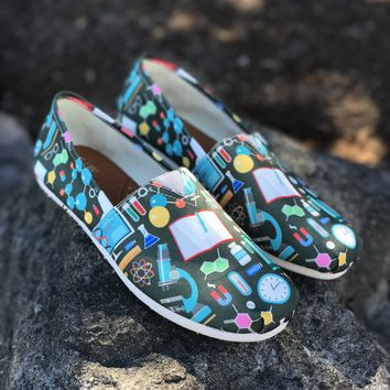 Science Pattern Casual Shoes
