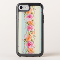 Lines with Pink Flowers Speck iPhone Case