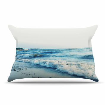 "Chelsea Victoria ""Beyond The Sea"" Blue Coastal Pillow Sham"
