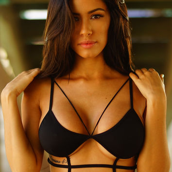 Caged In Bralette - Black