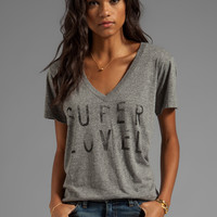 Current/Elliott The V Neck in Heather Grey Super Loved from REVOLVEclothing.com