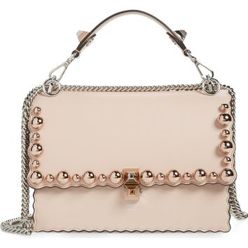 Fendi Mini Kan I Imitation Pearl Scallop Leather Shoulder Bag | Nordstrom