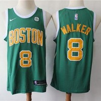 CBoston Celtics 15 Kemba Walker Green City Edition Basketball Jersey