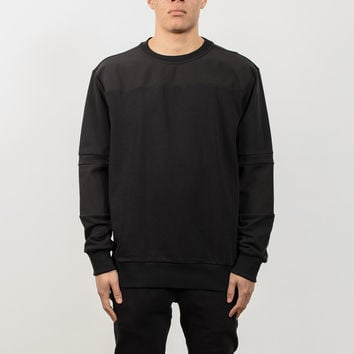 Cut and Sew Scuba Panel Sweat - Black