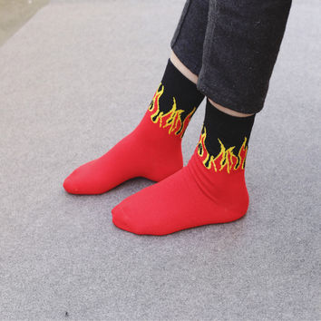 Unisex Flame Socks