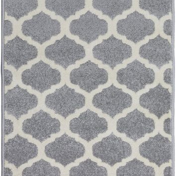 Horizon Geometric Area Rug Gray