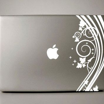 "Floral Decal - Macbook Pro Retina AIr Decal Sticker available for laptops in (11"" 13"" 15"" 17"")"