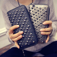 Winter Wallet Fashion Stylish Rivet Bags Purse [6048287873]