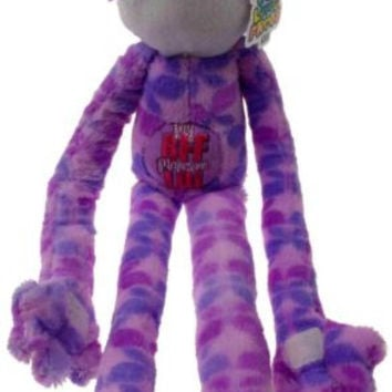 Peace and Love Frogs My BFF Makes Me LOL Purple Soft Hanging Plush Embroidered