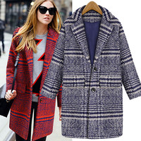 Fashion Single-Breasted Wool Coat 7600419