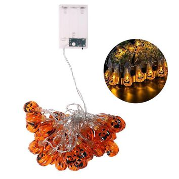 30 LED Decorative Fairy String Lights Pumpkin Halloween Party Indoor Outdoor Light Lamp (Warm White)
