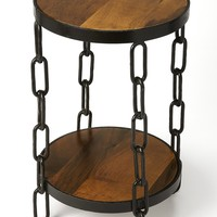 Alice Wood & Metal End Table