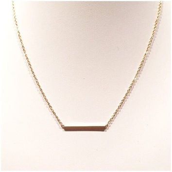 Charm Gold Brick Necklace