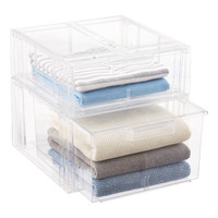 Clear Stackable Sweater Drawer