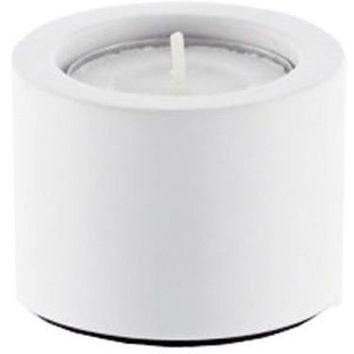 DWBA Stone White Spa Bathroom Round Jar Candle Holder - Solid Surface