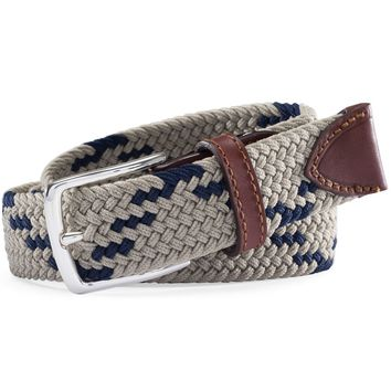 Braided Web Belt in Sandstone Khaki by Southern Tide