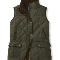 Bean's Upcountry Waxed Cotton Down Vest