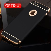 For iPhone 6 6s 7 Plus Case Luxury Protection Mobile Phone Case Capa Cover +Ultra Thin Protective Case for iPhone 7 Case Cover