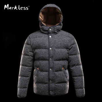 Men Seamless Thick Down Jackets Mens Casual Hooded Jackets Down Male Fashion Winter Coats OuterWear