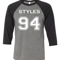 Adult One Direction Harry Styles 94 Baseball T-Shirt