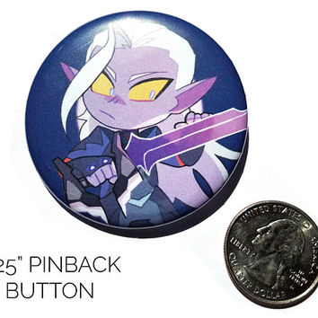 Voltron Legendary Defender Lotor Button + Print Set