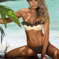 Womens Cool Beautiful Strapless Bikini Swimsuit