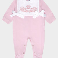 Young Versace Iconic Baroque Playsuit for New Born   US Online Store