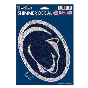 Licensed Penn State Nittany Lions Official NCAA Shimmer Car Decal by Wincraft 124074 KO_19_1