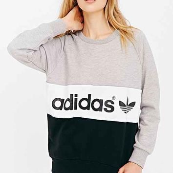 adidas Originals City Sweatshirt- Grey from Urban Outfitters b4955be7a4cc