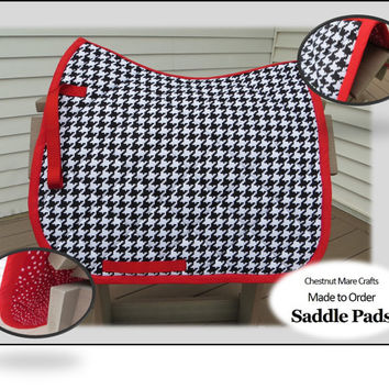 MADE TO ORDER English Pony, Horse, Dressage Saddle Pad: Duck Cloth Prints
