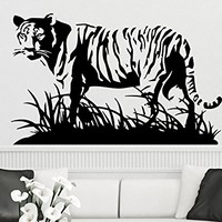 Wall Decal Tiger Vermin Hunting Vinyl Sticker Decals Predator Animals Home Decor Bedroom Art Design Interior NS880