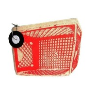 MilkCrate  ZipPouch Red by QuietDoing on Etsy