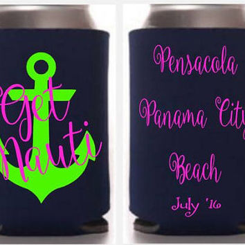 Get Nauti can holders, soda insulators, nautica theme, nautical party theme, get naughty can insulators, bachelorette can holders, wedding