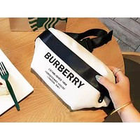 Burberry fashion men and women patchwork color Fanny pack hot selling diagonal across the chest bag
