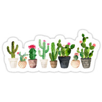 'Cactus' Sticker by BekkaCampbell