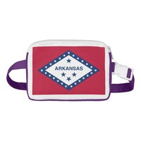 Patriotic Fanny Pack with Flag of Arkansas, USA.