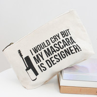 💕  MY MASCARA MAKEUP BAG IN CREAM CANVAS 💕