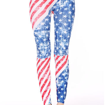 Vintage Washes American Flag pants