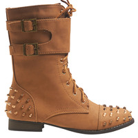 Stud Buckle Combat Boot | Shop Just Arrived at Wet Seal
