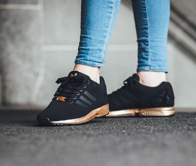 c4674e045ab4 ... greece womens adidas zx flux black copper rose gold metallic nmd d55a7  05fd1 ...