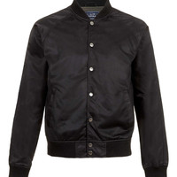 BLACK NYLON MESH BOMBER JACKET - View All Sale - Sale - TOPMAN USA