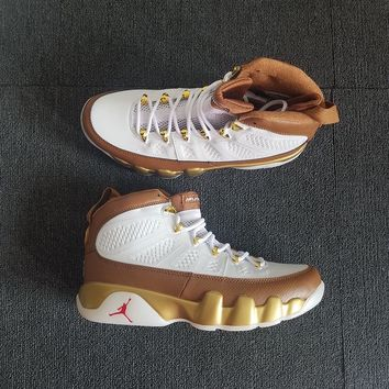 "AIR JORDAN 9 ""White&Brown"" Men Basketball Shoes Sneaker"