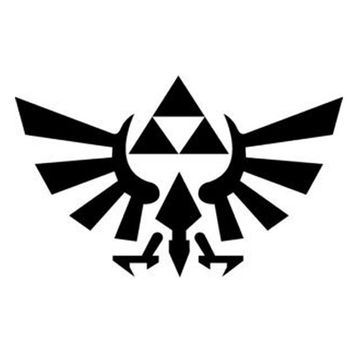 Legend of Zelda Triforce - BLACK - Car, Truck, Notebook, Vinyl Decal Sticker Any Corlor